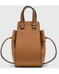 Loewe Mini Hammock Drawstring Bag - Brown