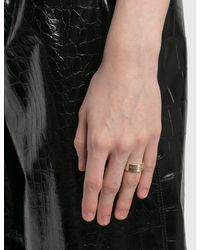 Maison Margiela Logo Wide Ring - Metallic