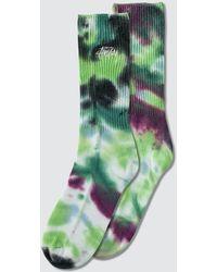Stussy Tie Dye Socks - Blue
