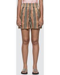 Burberry - Icon Stripe Silk Shorts - Lyst