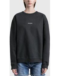Acne Studios Fierre Stamp Sweatshirt - Black