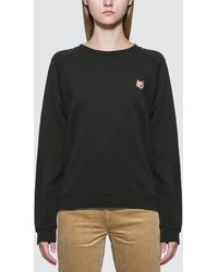 Maison Kitsuné Fox Head Patch Sweatshirt - Black