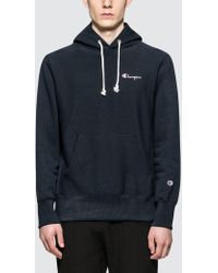 3733ba780511 Lyst - Champion Mens Large Logo Overhead Hoodie Pink in Pink for Men