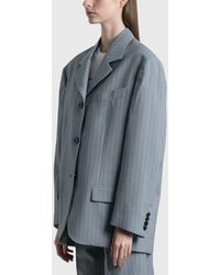 Acne Studios Preslee Pinstripe Suit Blazer - Blue