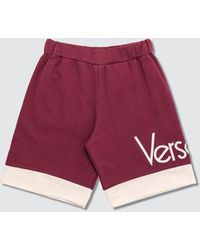 Versace Vintage Logo Shorts - Red