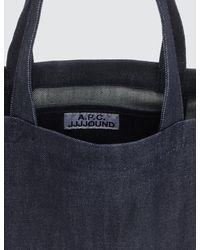 A.P.C. X Jjjjound Tote Bag - Blue
