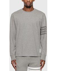 Thom Browne 4-bar Rugby Long Sleeve T-shirt - Gray