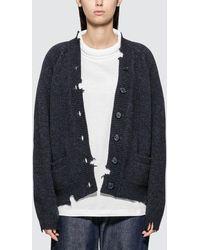 Maison Margiela Oversized Knit Cardigan - Blue