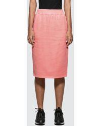 Stussy - Margo Fleece Skirt - Lyst