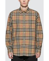 Burberry Long Sleeve Shirt - Natural