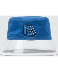 Prada Popeline And Plex Bucket Hat - Blue