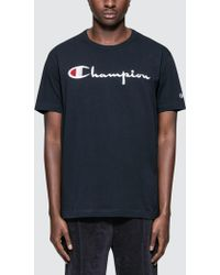 Champion - Script Logo S/s T-shirt - Lyst