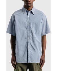 Nanamica Button Down Wind Shirt - Blue