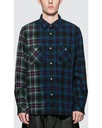 Sacai Check Flannel Shirt - Blue