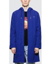 Off-White c/o Virgil Abloh Diag Rain Coat - Blue