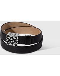 Loewe Anagram Double Bracelet - Black