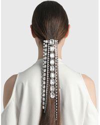 Area Baguette Crystal Fringe Hairclip - Metallic
