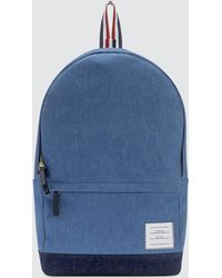 Thom Browne - Unstructured Backpack In Washed Denim + Pebble Grain - Lyst