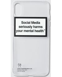 Urban Sophistication Mental Health Warning Iphone Cover - White