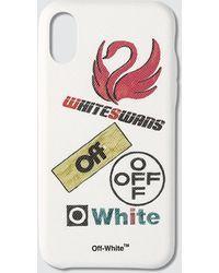 Off-White c/o Virgil Abloh Multilogo Iphone X Case - White
