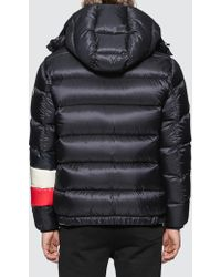 Moncler Willm Tricolour Stripe Quilted-down Jacket - Blue