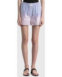 T By Alexander Wang Ombre Oxford Boxer Shorts - Multicolour
