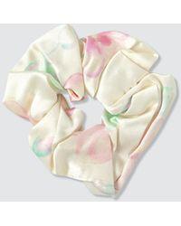 Ganni Silk Mix Scrunchie - White