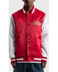 Starter Budweiser X Crown Satin Jacket - Red