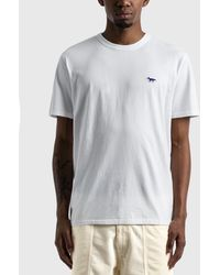 Maison Kitsuné Navy Fox Patch Classic T-shirt - White