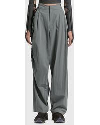 Hyein Seo Chained Wide Trousers - Grey