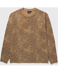 Stussy Flower Long Sleeve T-shirt - Brown