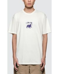 Stussy - Stock Lion Pig. Dyed T-shirt - Lyst