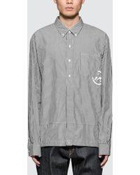Denim by Vanquish & Fragment - Icon Stripe Coaches L/s Shirt - Lyst