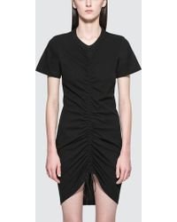 Alexander Wang | High Twist Dress With Gathered Front | Lyst