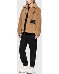 Burberry Embroidered Logo Cotton Trackpants - Black