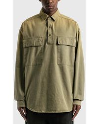 Fear Of God Military Canvas Pullover Shirt - Brown