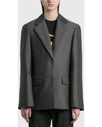 we11done Basic Single Button Jacket - Gray