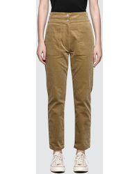 Maison Kitsuné - Corduroy Henrie High Waisted Pants - Lyst
