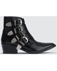 Toga - Buckle Ankle Boots - Lyst
