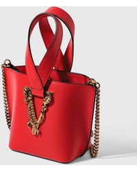Versace Virtus Bucket Bag - Red