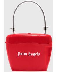 Palm Angels Strap Padlock Bag - Red