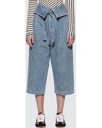 Loewe Belted Pleated Oversize Jeans - Blue
