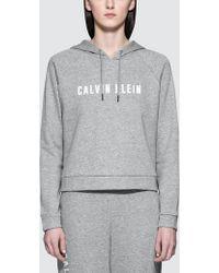 CALVIN KLEIN 205W39NYC - Logo Terry Hood Pullover - Lyst