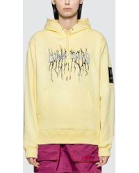 8907d888673 Champion + Uo Powerblend Reflective Hoodie Sweatshirt in Orange - Lyst