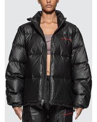 Alexander Wang Chynatown Pleather Nylon Puffer Jacket - Black