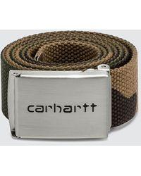 Carhartt WIP Clip Belt Chrome - Multicolor