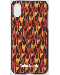 Palm Angels Flames Iphone Xr Case - Black