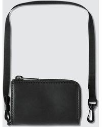 Maison Margiela Zip Wallet With Strap - Black