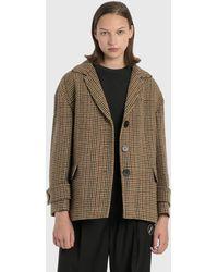 we11done - Oversized Plaid Wool Jacket - Lyst
