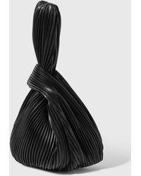 Nanushka Jen Vegan Leather Pleated Bag - Black
